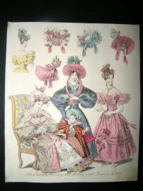 World of Fashion 1832 Hand Col Fashion Print 14